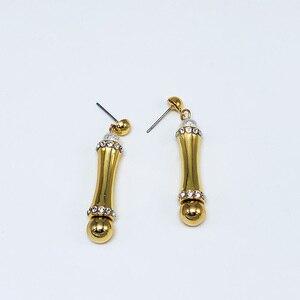 Image 2 - Viennois דובאי עבור נשים במבוק עיצוב זהב מצופה שרשרת ולהתנדנד עגילי תכשיטי סט תכשיטים סט