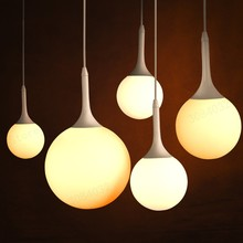 BQDBQBL LED Milk White Glass Pendant Light Lamp Bubble Ball Luminaire E27 for Loft Living room restaurant lobby office(China)