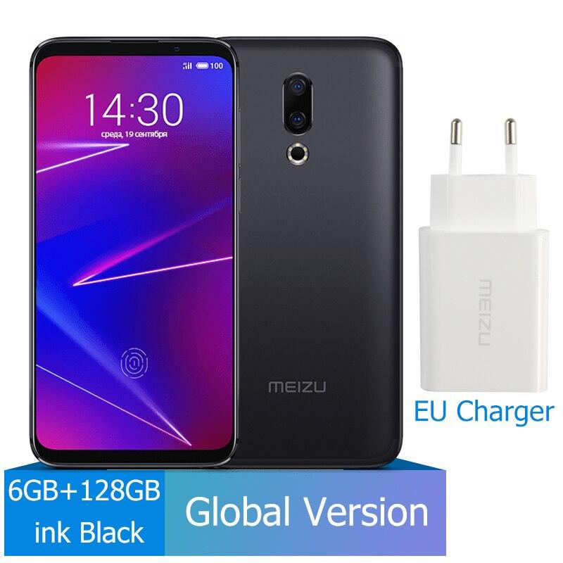 Meizu 16, 6 ГБ, 64 ГБ, глобальная версия, Смартфон Snapdragon 710, четыре ядра, мобильный телефон на фронтальной панели 20 МП, 3100 мАч, встроенный экран, отпечаток пальца - Цвет: 128G Black
