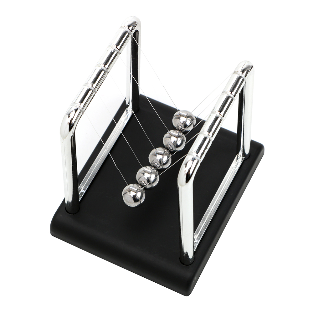 Newton's Cradle Metal Pendulum Ball Physics Science Pendulum Desk Table Decor Steel Balance Ball Newton Ball