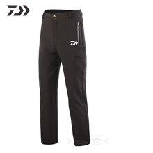Новинка, Daiwa, брюки для рыбалки, водонепроницаемые, для походов, брюки для мужчин, флис, тепловые, твердые, прочные штаны, спортивная одежда для рыбалки, одежда для улицы