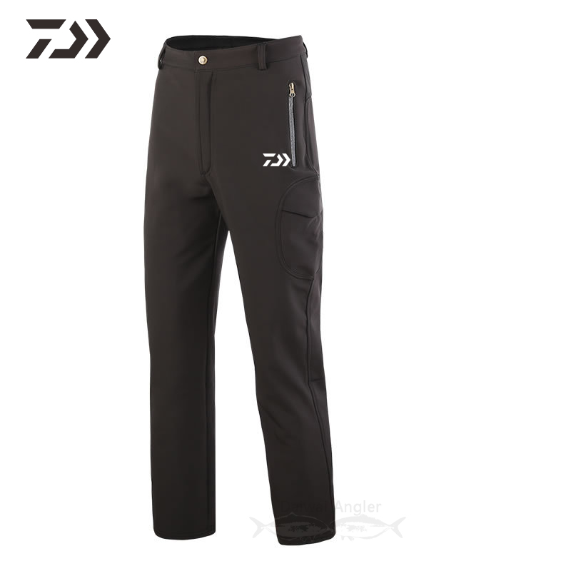 New Daiwa Fishing Pants Waterproof In Hiking Pants Men Fleece Thermal Solid Durable Pants Sportswear Fishing Clothing Outdoor
