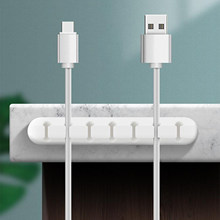3/5/7 Hole Cable Tidy Clips Organiser Desk USB CHARGER CABLES 3 Hole