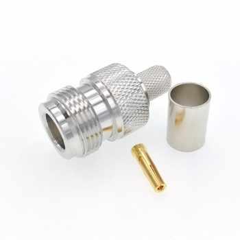 50pcs N Female Jack Crimp RG5 RG6 LMR300 5D-FB Ecoflex 7 Cable RF Connector