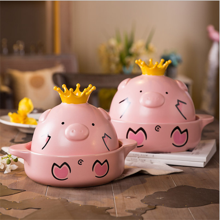 Cartoon Ceramic Casserole Pig High Temperature Pot 2