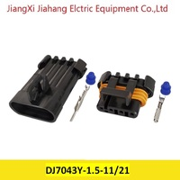 Free shipping 500sets DJ7043Y 1.5 11/21 4Pin AMP Car Electrical Wire Connectors for VW,BMW,Audi,Toyota