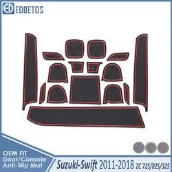 Anti-slipmata do Suzuki Swift 2011-2017 naklejki Maruti DZire Sport ZC72S ZC82S ZC32S 2014 akcesoria maty do schowków Coaster Anti