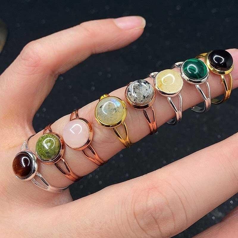 Ручной работы в богемном стиле, ювелирное изделие, подарок натуральный кольца с настоящими австрийскими кристаллами, женские браслеты с по...
