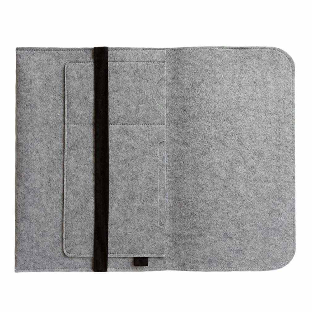 "¡En stock! Funda de moda para ordenador portátil para Macbook Pro/Air/Retina Notebook Sleeve bag 13 ""15"" lana fieltro funda para ultrabook bolsa"