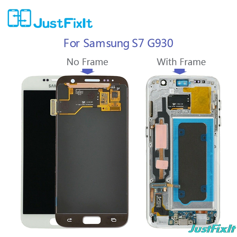 <font><b>S7</b></font> G930F For <font><b>SAMSUNG</b></font> <font><b>GALAXY</b></font> <font><b>S7</b></font> G930F g930 g930FD Burn-in shadow <font><b>LCD</b></font> Display Touch Screen Digitizer <font><b>with</b></font> <font><b>frame</b></font> image