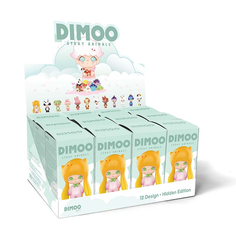 POP MART Dimoo Animals Toys Figure For Whole Box Blind Box Doll Binary Action Figure Birthday Gift Kid Toy Free Shipping