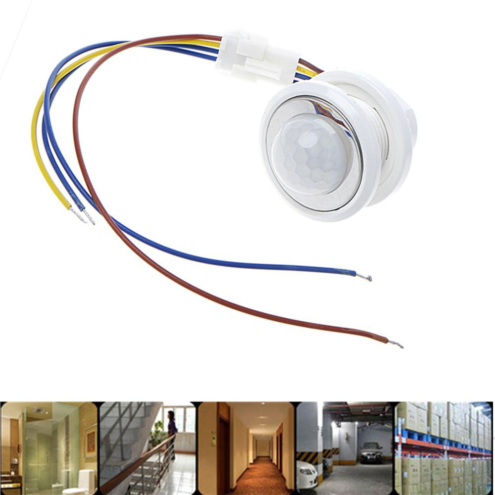 PIR Motion Sensor Switch 85-265V LED Adjustable PIR Detector Infrared Motion Sensor Switch Auto On Off For Home