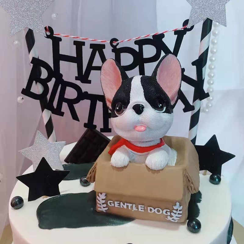 Miraculous Creative Cute Pet Dog Birthday Cake Topper Decoration Decoration Personalised Birthday Cards Arneslily Jamesorg