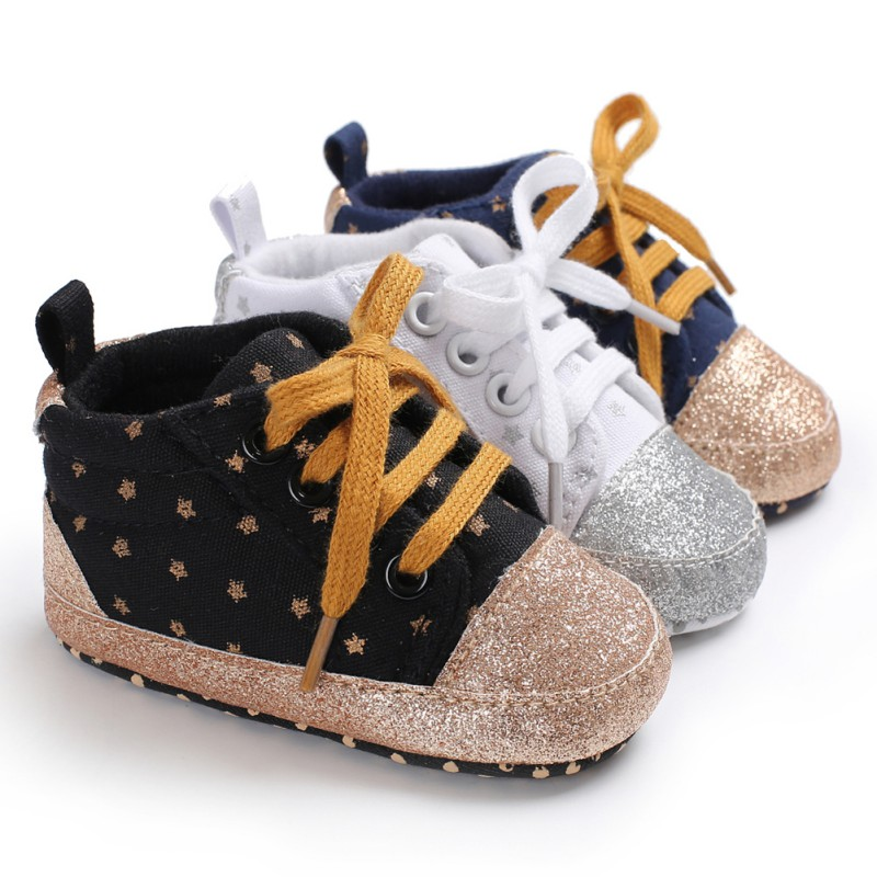 New Kids Children Shoes Baby Boys Girls Casual Shoes Anti-slip Baby Toddler Shoes First Walkers Walking Lace-Up Shoes