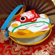 Children DIY Handmade Lovely Cartoon Felt Non-Woven Coin Bag Coaster Hand-Made Crafts Materials Kits