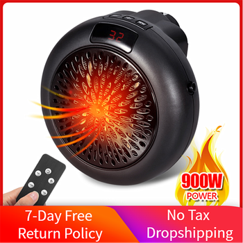 900W Portable Electric Space Heater Wall Mount Home Office Air Heater Warmer Fan Silent Remote Control Fast Heat Thermostat 600w infrared space heater panel room heater with wireless sensor thermostat