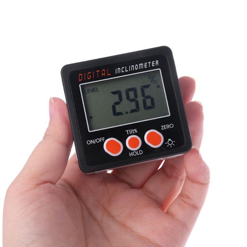 Digitale Inclinometer Elektronische Gradenboog Aluminium Bevel Box Hoek Gauge-in Gradenbogen van Gereedschap op title=
