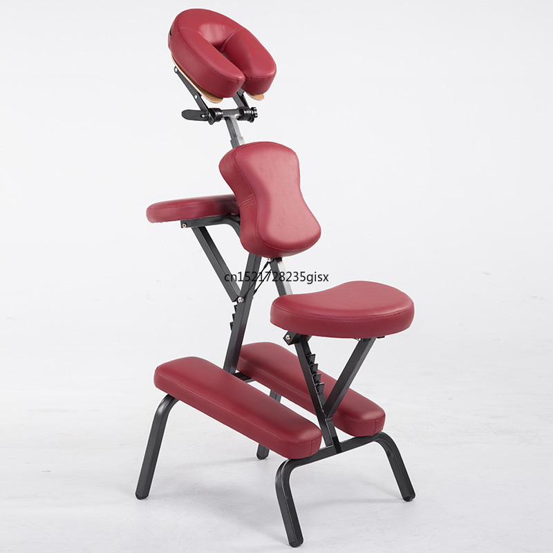 Folding Height Adjustable Tattoo Scraping Chair Portable Leather Pad Massage Chair With Armrest Quality Beauty Bed With Bag