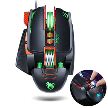 2016 Latest 5500 DPI 7 Buttons LED Optical USB Wired Gaming Mouse Mice+Gaming Mouse Pad Locking Edge Mouse Mat for PC Pro Gamer цена и фото