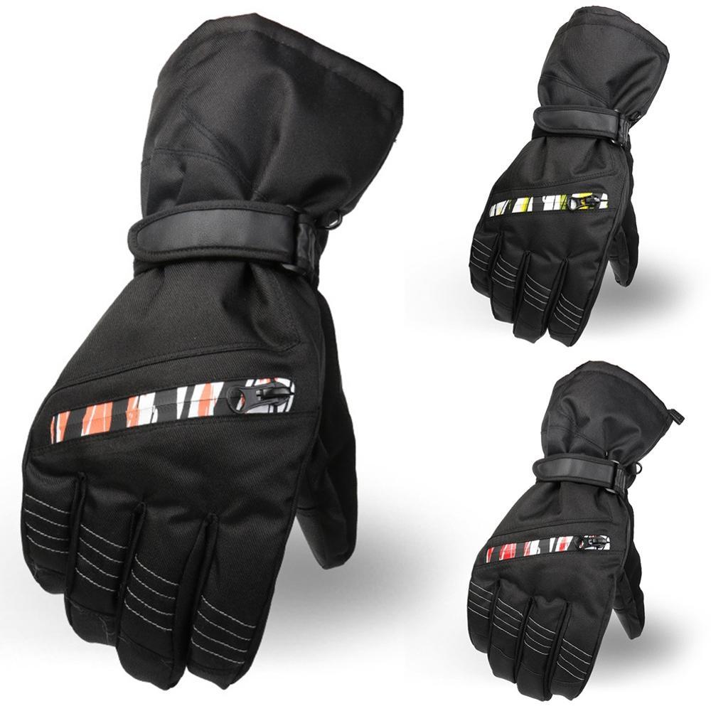 Men Ski Gloves Fleece Snowboard Gloves Snowmobile Motorcycle Riding Winter Gloves Windproof Waterproof Snow Gloves