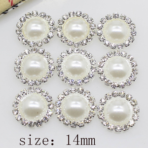 High-grade simple 10 pieces 14mm Diy wholesale price crystal pearl wedding jewelry accessories rhinestone crafts exquisite produ(China)