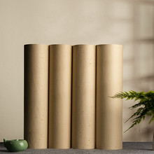 Rolling Chinese Raw Rice Paper Beginner Golden Foils Calligraphy Painting Paper Half-Ripe Bamboo Pulp Xuan Paper Rijstpapier