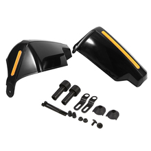 цены 1Pair Motorcycle Handlebar Protection Gear Motocross Scooter Windproof Moto Hand Guard Handle Protector Shield