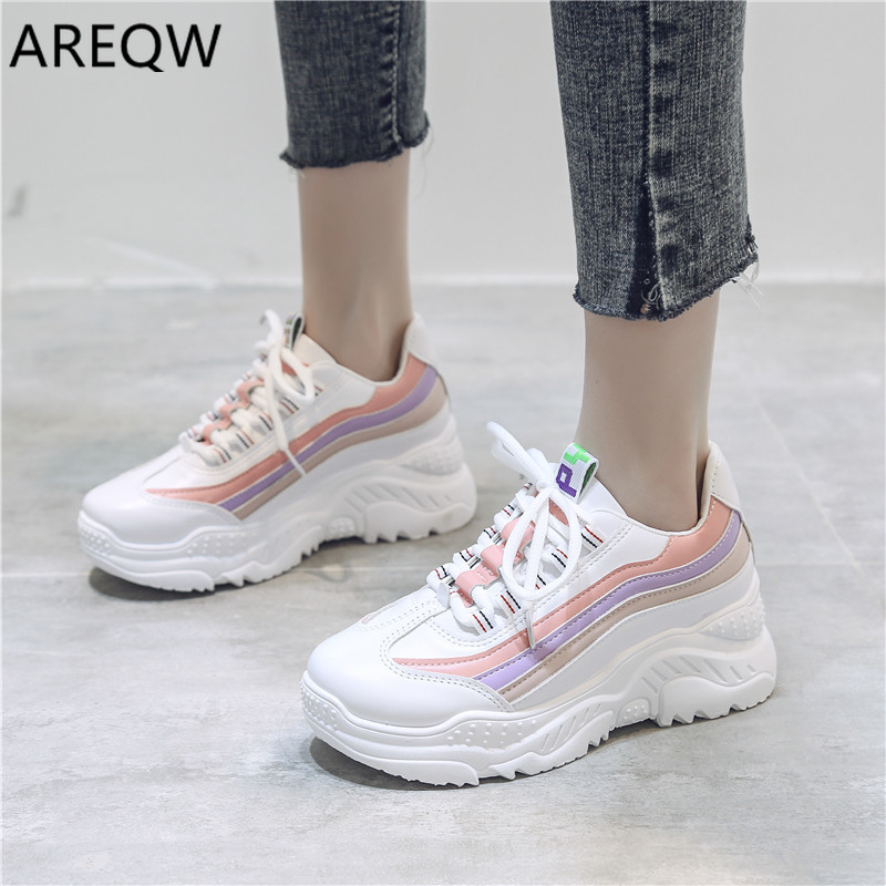 2020 Women Fashion Mesh Lace-up Sneakers Vulcanized Shoes Ladies Casual Shoes Breathable Walking Mesh Flats New