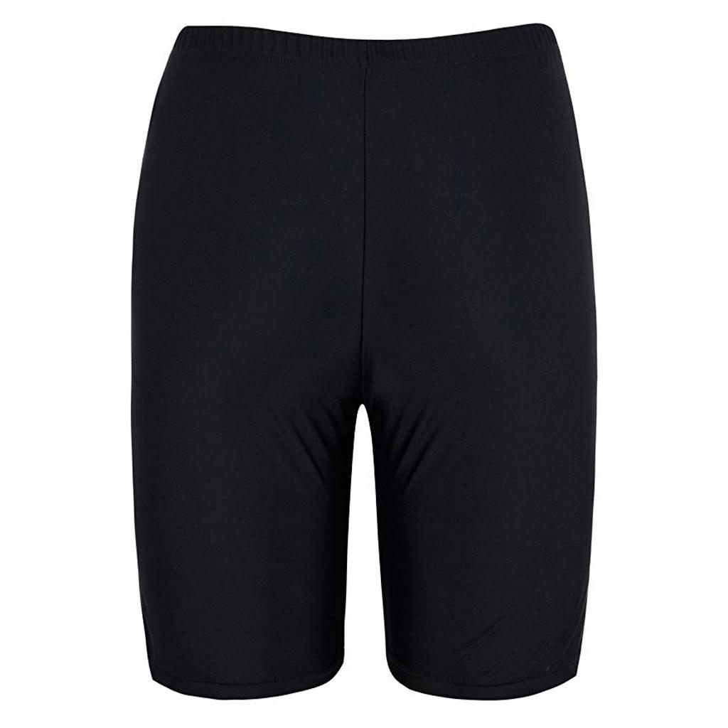 Women Sport Sunscreen Elastic Bathing Bottom Skinny Capris Swim Shorts Trunks Swimming pants 2019 new Brazilian Biquinis Set