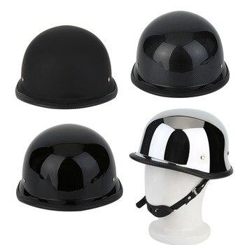2018 Motorcycycle Helmets Half German Style Vintage Motorcycle Helmet Carbon Fiber Durable Face M/L/XL