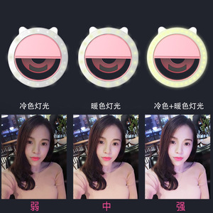 Mini LED Mobile Phone Selfie Ring Flash Lens Beauty Fill Light Lamp Portable Clip For Photo Camera For Cell Phone Smartphone