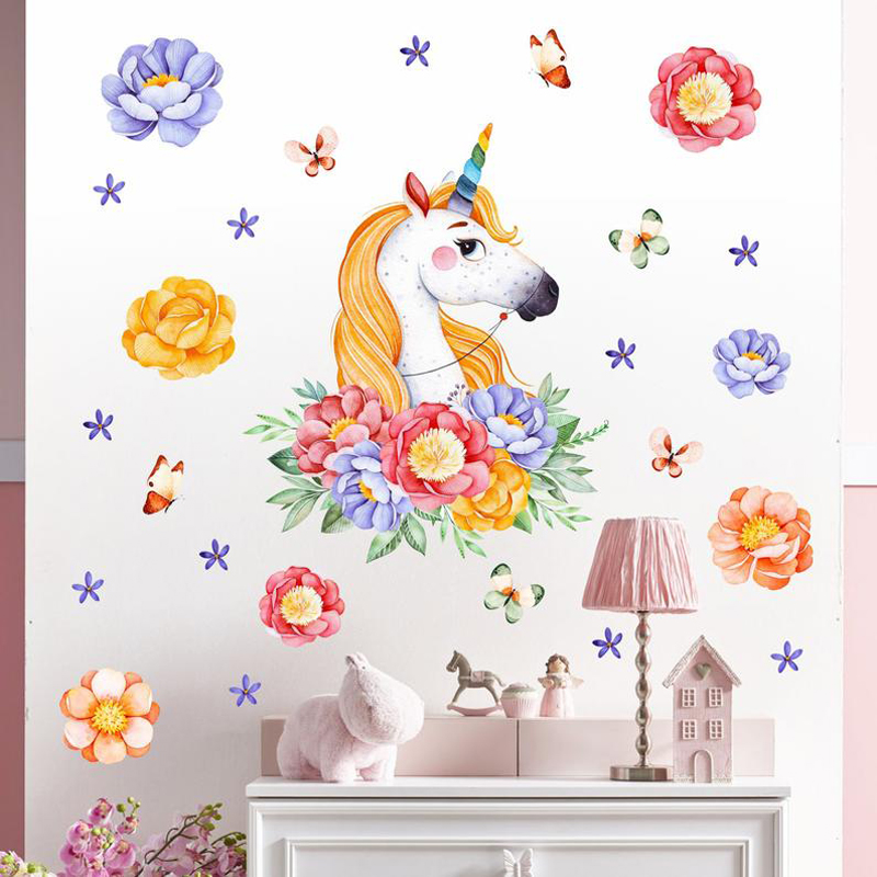 Two Black Horses Hole in The Wall 3D Effect Wall Sticker Art Decal Mural 1333