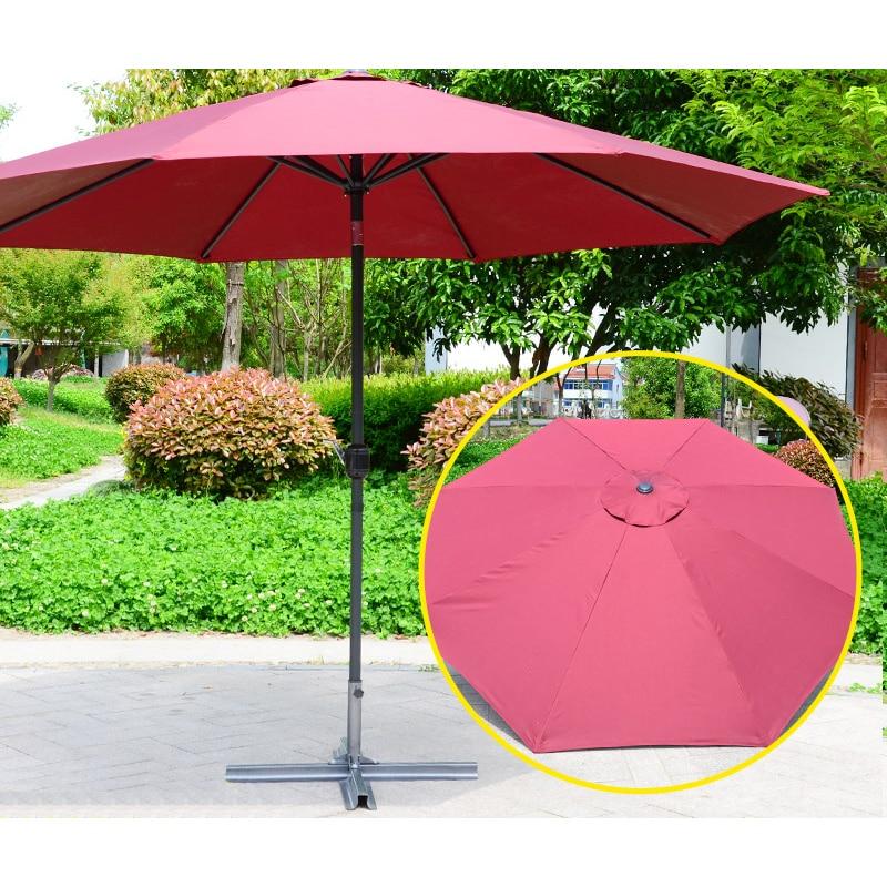Outdoor Patio Umbrella Parasol Pool Beach Sun Shade Pool Beach (Without Base)