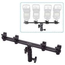 Completo universal quatro suporte de flash sapato quente speedlight suporte guarda chuva suporte de luz para estúdio de vídeo câmera dslr canon nikon yongn