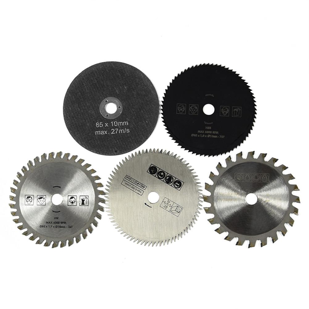 5pcs 85mm Electric Mini Circular Saw Blade Wood Saw Disc Wood Cutting Saw Blade Fit Dremel Circular Mini Saw Blade Power Tools