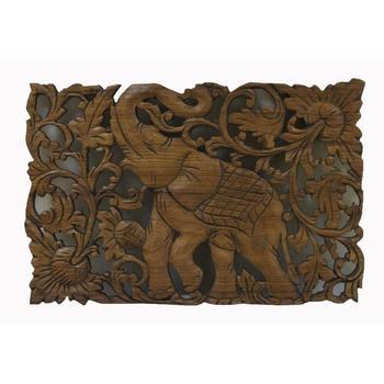 "Panel carved ""elephant"""