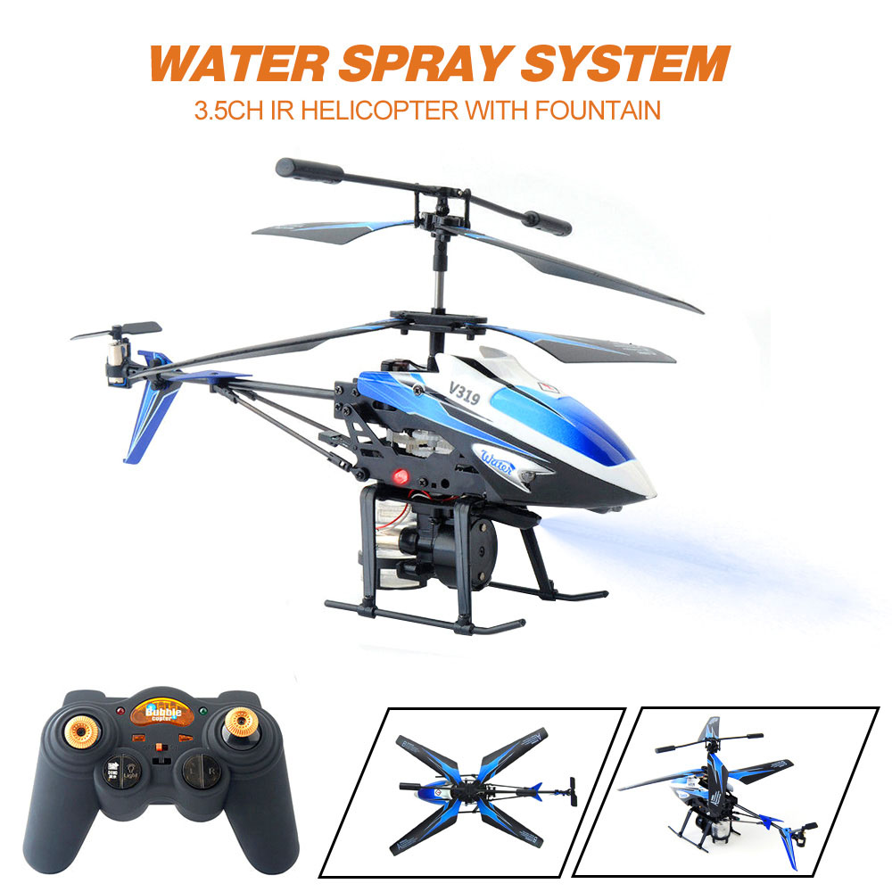 Rc helicóptero mini drones atirar água 3.5 ch infravermelho helicóptero de controle remoto shatter resistente brinquedos para meninos presentes natal