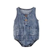 Детский джинсовый комбинезон, с карманами, на пуговицах