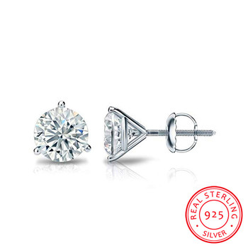 Genuine 925 Sterling Silver Stud Earring 5mm Lab Diamond Cz Engagement Wedding Earrings for women men.jpg 350x350 - Genuine 925 Sterling Silver Stud Earring 5mm Lab Diamond Cz Engagement Wedding Earrings for women men Charm Party Jewelry Gift