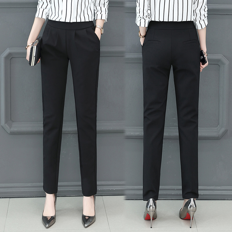 Baggy Women Casual Pants New Fashion Solid Elegant High Waist Slacks Ladies Long Black Office Pants Slim Sexy Trousers KK60KZ