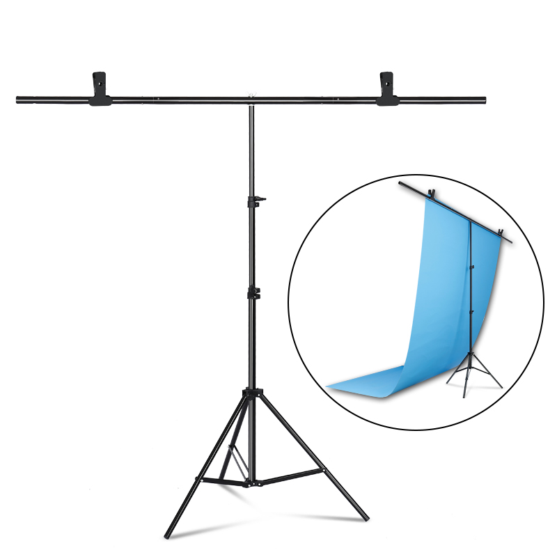 Photography T-shaped Background  Backdrop Stand Support System For Photo Studio PVC Backdrops Multiple Sizes + Carry Bag