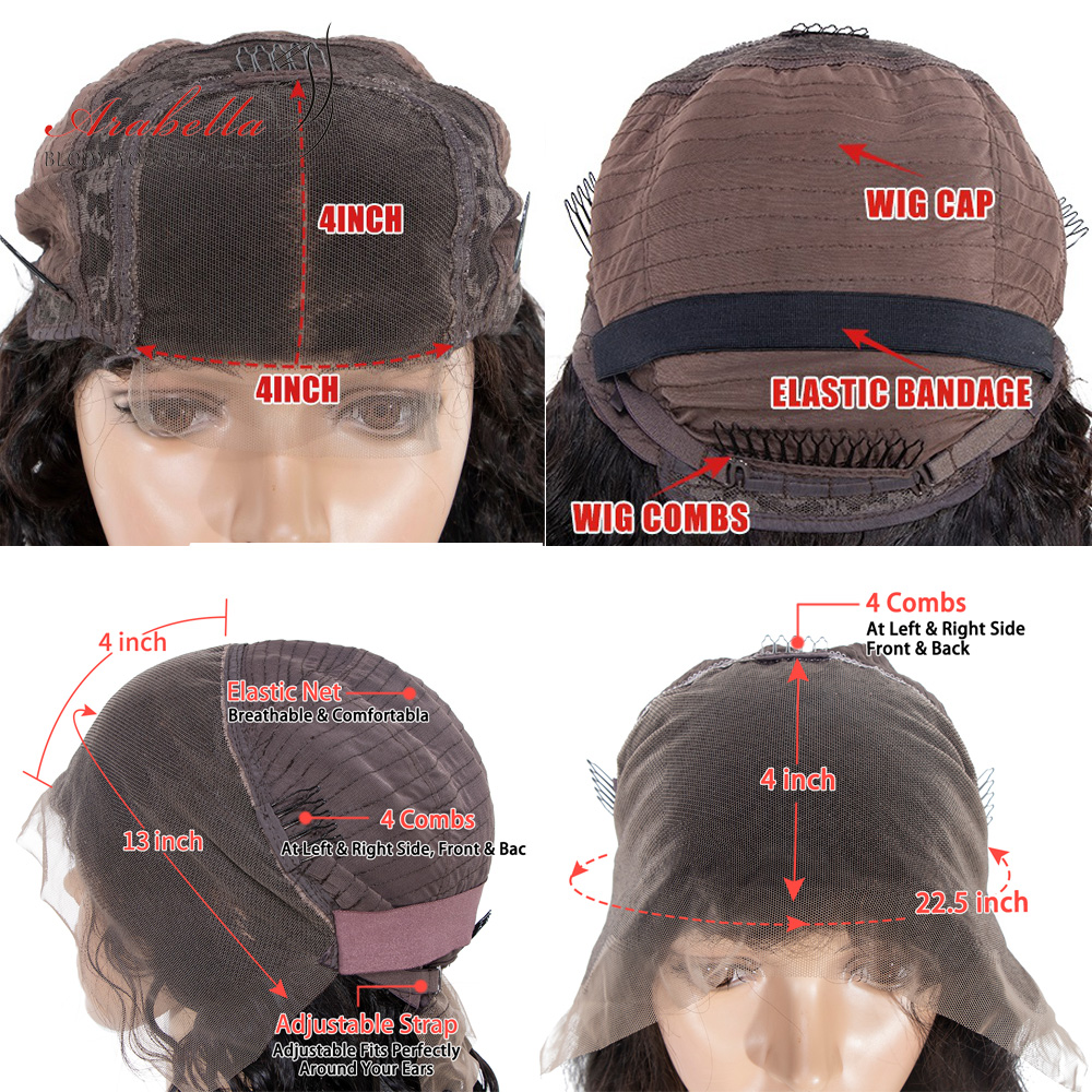 Deep Wave Bob Wig Lace Front  Wigs 13x4  Hair With Baby Hair  Lace Frontal Wig Arabella Closure Wig Bob 6