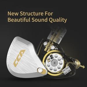 Image 5 - New CCA C12  Metal Headset 5BA+1DD Hybrid 12Units HIFI Bass Earbuds In Ear Monitor Headphones Noise Cancelling Earphones KZ E10