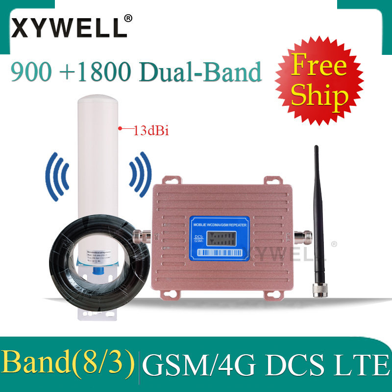 New!! репитер Gsm 2g 3g 4g DCS LTE 1800 900 GSM Mobile Signal Booster 1800 GSM Cellular Amplifier 2g 4g Cellular Signal Repeater