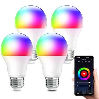 Led Lamp Smart Bulb E27 B22 Smartlight 9W 10W Bombillas Bluetooth RGB Home life Dimmable Decorative