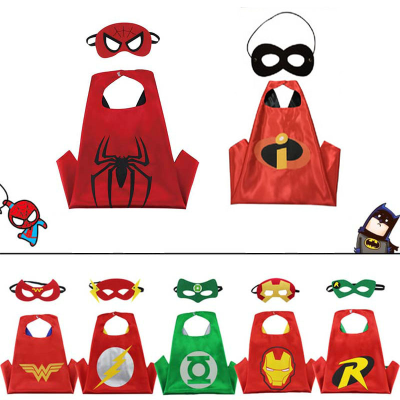 Manufacturers Supply Kid Boy Gilr Cartoon Hero Cloak Custom Wholesale New Double Halloween Kid Cloak