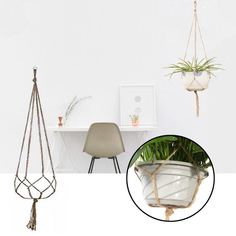 90cm corde de chanvre suspendus corde panier tressé planteur Pot de fleur porte-plante macramé suspendu noué levage corde jardin décor