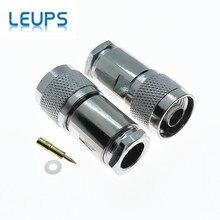 10PCS N Stekker RF Coaxiale Connector Klem RG8 LMR400 RG213 RG165 RG393 Kabel