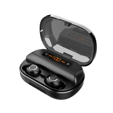 V12 Digital Display Touch Wireless 5.0 Dual Ear Bluetooth He
