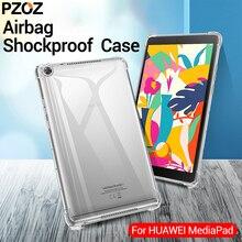 PZOZ huawei 社 M6 ケースカバーシリコーン耐震透明な Tpu シェル Huawei 社 M3 M5 8.4 10.8 M3 M5 lite 8.0 10.1 タブレットケース